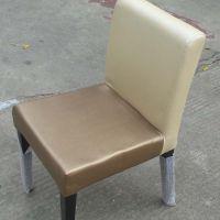 供应餐桌椅定做 新款上市皮革餐椅 软包餐椅 深圳聚焦美家具