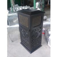 舒纳和豪华的网格状垃圾桶 可丝印LOGo的铸铝果皮箱