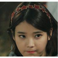 B379乐天韩国来自星星的你发饰皮革星星发箍头箍