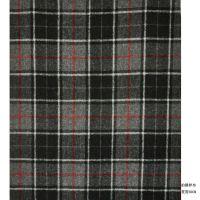 格子大衣外套服装布料 厂家直供法兰格粗纺毛呢面料 413-30
