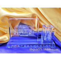 广东银行高端客户交流会水晶三件套 答谢客户礼品 三件套摆件