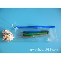 厂家供应PVC笔袋 PVC化妆笔袋 透明拉链文具袋 广告礼品