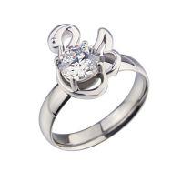 欧美外贸钛钢戒指 高贵典雅天鹅镶钻女款戒指时尚指环淘宝速卖通