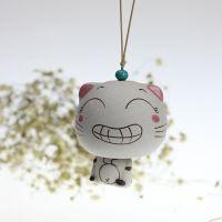 陶瓷风铃批发景德镇手工创意瓷器车饰挂件CC猫表情猫JXF167