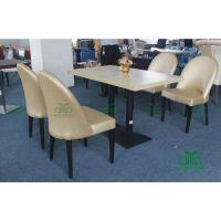 厂家直销简约西餐厅 高档奶茶店软包椅 优质西皮金属餐椅批发 运达来