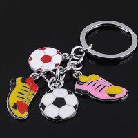 厂家直销 创意精美串串足球运动鞋钥匙挂件 优良品质LX-023