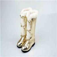 厂家直销 童鞋批发2014冬款新款女童中筒靴真皮儿童靴公主长筒靴