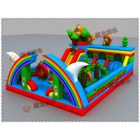 创业的好工具儿童充气滑梯城堡,商场和公园里的充气滑梯/充气城堡生产直销厂家