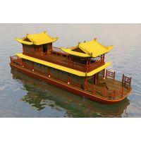 定制14米双层餐饮观光画舫仿古木船