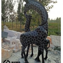 青石长颈鹿石雕厂家一件起批