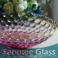 蚌埠工厂供应三美精美家用盘子 葡萄喷色玻璃盘子 高端出口欧美