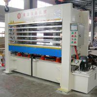 供应国森牌纤维板刨花板基质贴面层压机设备Board Veneer Press
