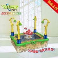 丛林鱼池 玻璃钢鱼池 儿童乐园钓鱼池 可养真鱼 游乐设备游艺机