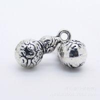 S925纯银泰银 宝葫芦 挂件 个性DIY水晶搭配配件 串珠小挂件配件