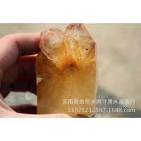 纯天然金发晶水晶原石可做雕刻,挂件,摆件/招财辟邪 批发