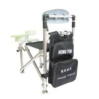 鸿运靠背自动加高款折叠台钓椅钓鱼椅垂钓椅钓台渔具钓箱