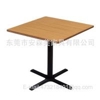 高档茶餐厅 快餐厅 方形桌子 洽谈桌 快餐桌 防火板餐台(T578#)