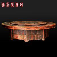 雕刻打磨红木酸枝直径3米以上餐桌宝座 古典宫廷家具