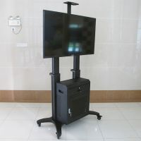 NB品牌AVG1800-70-1P铝合金黑色视频会议液晶电视移动支架立式架