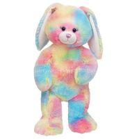 rainbow plush fabric