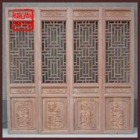 北京厂家订做中式木质花格屏风 中式花格门窗 仿古雕花隔断