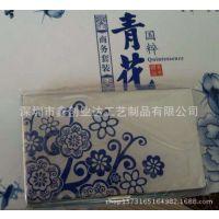 深圳名片盒厂家批发春节礼品名片盒 上海哪里定做青花瓷套装礼品名片盒