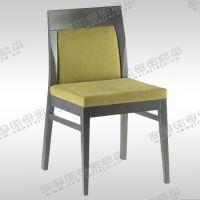 时尚餐椅 实木软包坐垫椅子 高级火锅店真皮沙发 单人休闲沙发椅