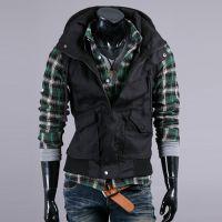 外贸专供 新款 欧美风格 工装全棉 男士无袖夹克 外套 速卖通