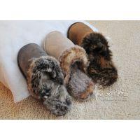 外贸 出口外单男款冬季毛毛家居地板保暖棉拖鞋防水防滑特大码