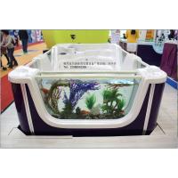 海洋世界-豪华亚克力三面透明玻璃智能按摩水疗池