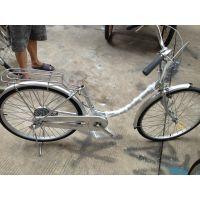 日本二手自行车24寸弯把双通普通自行车