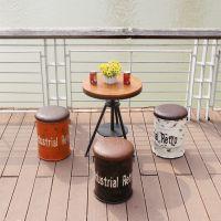 海德利厂家定制 美式乡村复古铁艺凳子创意做旧餐桌椅 批发