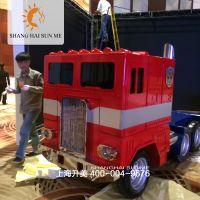 【上海升美】变形金刚之大卡车擎天柱玻璃钢雕塑模型租赁道具制作