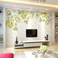 玺彩大型无缝壁画 客厅立体电视背景墙 中式简约无纺布壁纸整张画