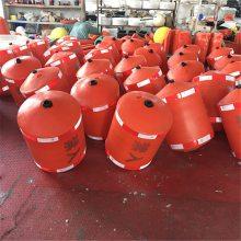厂家直销橙红色水上拦污浮漂 拦污挂网浮筒 环保型水上塑料浮体