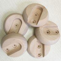 奇晟木艺 厂家生产优质香樟木荷木衣柜法兰座衣架托 厂家直销可加工定制