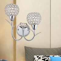 汉弗莱简约现代金色铬色水晶LED装饰壁灯卧室客厅餐厅灯具灯饰B94