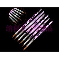 美甲水晶笔 3D亚克力杆螺旋水晶笔 美甲笔套装光疗笔 排笔