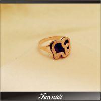 代发 时尚正品 玫瑰金戒指磨砂短款小象戒指银饰品首饰钛钢戒指