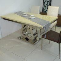 定做 现代餐厅西餐桌 大理石方形餐桌 铭咖啡厅专用桌
