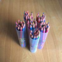 桶装彩铅 12色顺手牌彩色铅笔 彩色铅笔厂家直销 儿童绘图铅笔