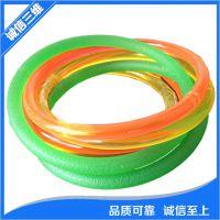 PU聚氨酯耐油耐磨可接驳红绿色圆带可接驳传动皮带光面糙面圆条带