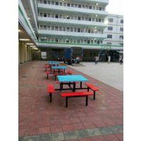 供应东莞东城附近食堂餐桌厂家 康腾便利店门口餐桌椅4人超市玻璃钢餐桌