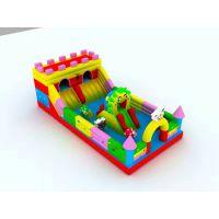 充气城堡高滑梯怎么卖的 儿童充气玩具赚钱吗 小孩气垫小型游乐场哪定做