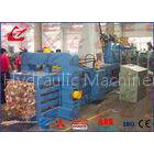 Waste Newspaper Baler Hydraulic Baling Machine , 22kw Horizontal Cardboard Baler