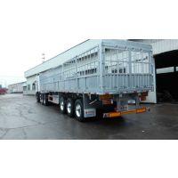 铝合金仓栏半挂车 国内最轻 价最低 13米*2.55米*1.6米 4.75吨 建安伟业平板式牵引挂车
