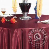 厂家直销酒店餐厅布草高档净色涤纶台布餐桌布批发可定制