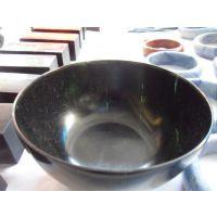 正品天然玉石餐具 贵蛇纹石墨绿玉保健 玉碗 保健活磁饭碗