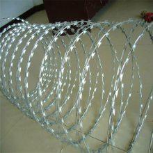 旺来不锈钢刀片刺绳 防盗防爬带刺铁丝网 直线型刀片刺绳生产厂家