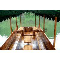 6米户外帆布观光木船 景区观光手划船 木质旅游观光船 款式可定制